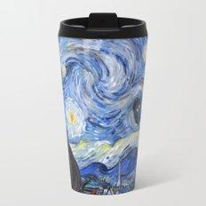 Starry Night with TARDIS Travel Mug