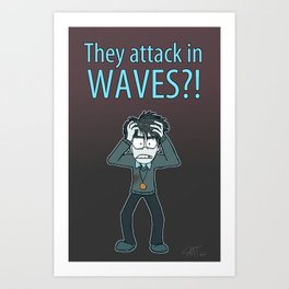 Guardian Ghost- THEY COME IN WAVES Art Print