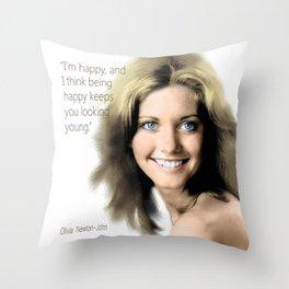 Movie star art - Olivia Newton John Throw Pillow