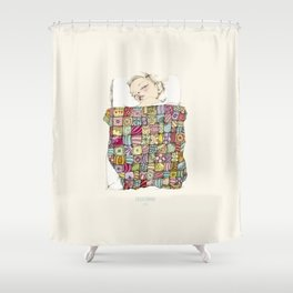 sleeping child Shower Curtain