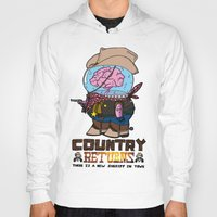 returns Hoodies featuring country returns by benjamin chaubard