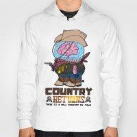 returns Hoodies featuring country returns by benjamin chaubard