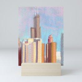 October Sunset: Chicago Skyline Mini Art Print