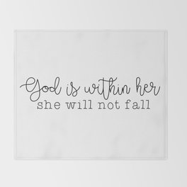 God Is Within Her Throw Blanket