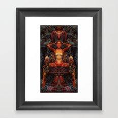 Triptych: Shakti - Red Goddess Framed Art Print