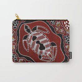 Authentic Aboriginal Art - Turtle Dreaming Carry-All Pouch