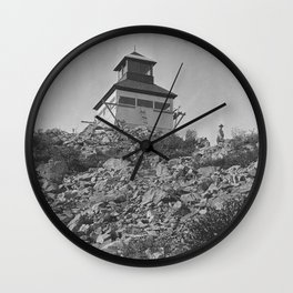 Bolan Mountain Lookout Tower, Siskiyou Forest, California , 1919 Wall Clock
