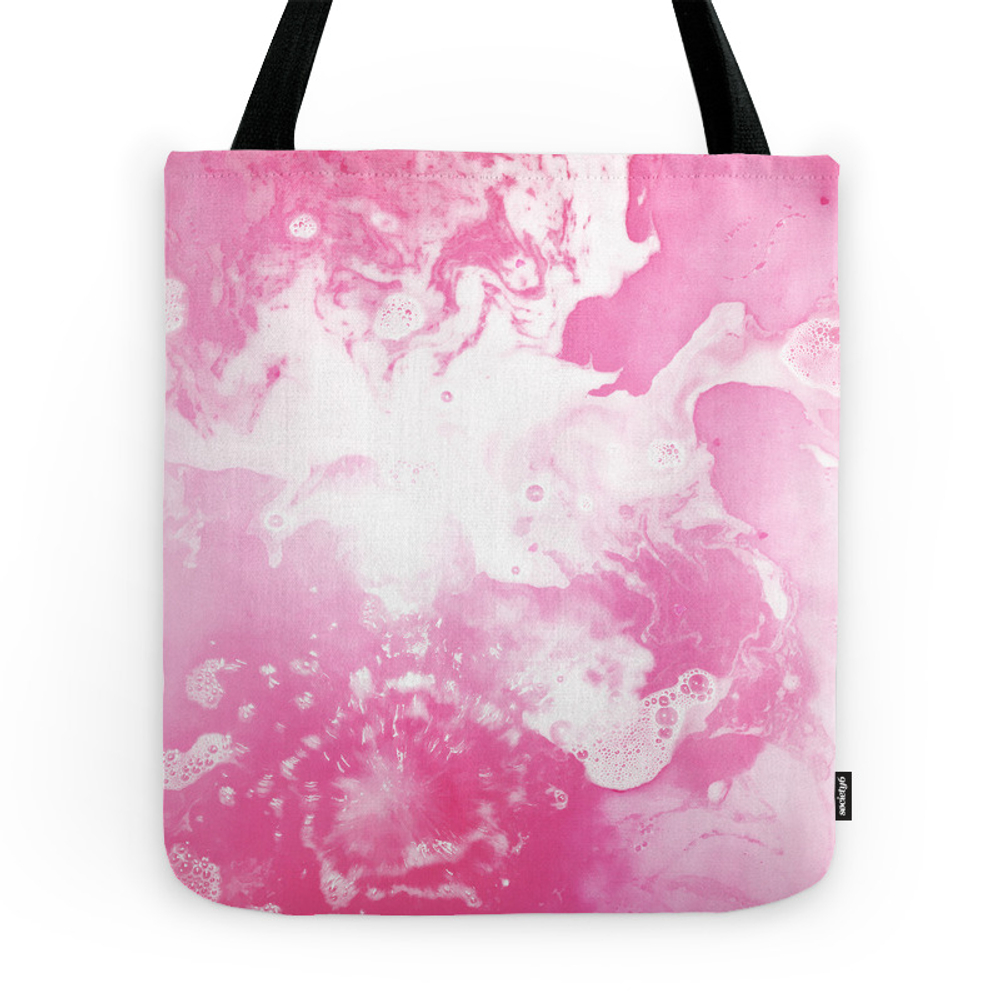 Pink Water Swirl Tote Purse by zubop81 (TBG7720485) photo