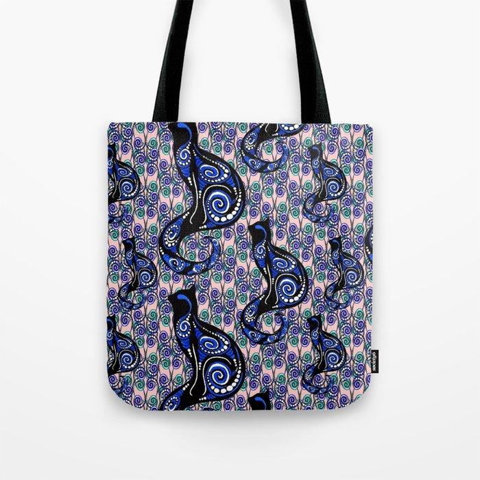 SWIRLY CATS Tote Bag