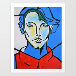 Jared Padalecki - Picasso Cubist Portrait Art Print