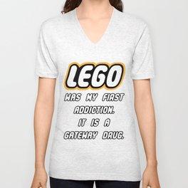 Addicted to Lego Unisex V-Neck