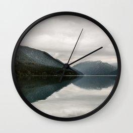 Milky Lake Crescent  Wall Clock