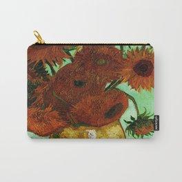 Van Gogh, sunflowers – Van Gogh,Vincent Van Gogh,impressionist,post-impressionism,brushwork,painting Carry-All Pouch