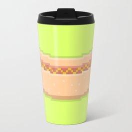 Pixel Hot Dog Travel Mug