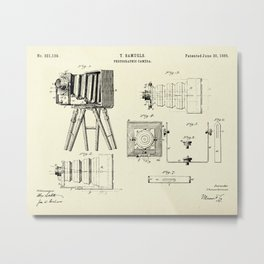 Photographic Camera-1885 Metal Print