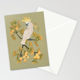 Cockatoo and Ginkgo Tree Stationery Cards