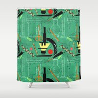 biology Shower Curtains featuring BIOLOGY by cecimonster