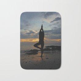 Tranquil beach meditation Malaysia Bath Mat