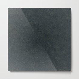 dark everglade & golden details | simple graphite texture Metal Print