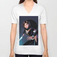 princess leia V-neck T-shirts featuring Princess Leia by J Skipper