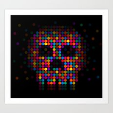 A Colorful Death by Qixel Art Print
