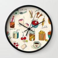 hong kong Wall Clocks featuring locals only - hong kong by Joanne Liu