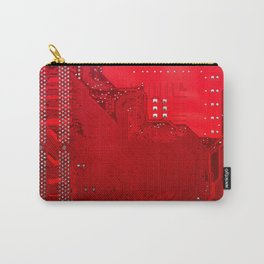 red electronic circuit board Carry-All Pouch