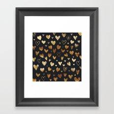 water colour heart pattern 2 Framed Art Print