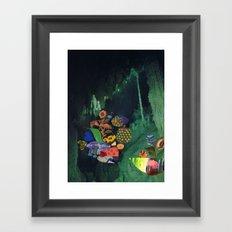 Cave Garden V Framed Art Print