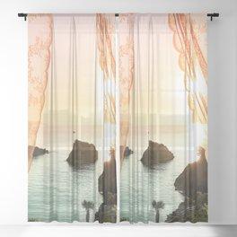 Golden Morning - Landscape Photography Sheer Curtain