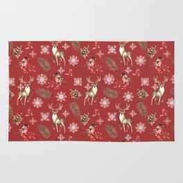 Deer and bullfinches Rug