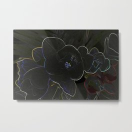freesia flowers outlined Metal Print