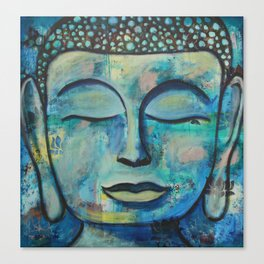 Blue Zen Buddha Canvas Print