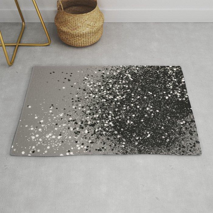Silver Gray Glitter 1 Shiny Decor
