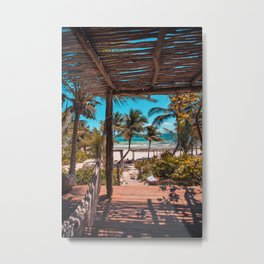 Cabana view of the Beach (Color) Metal Print