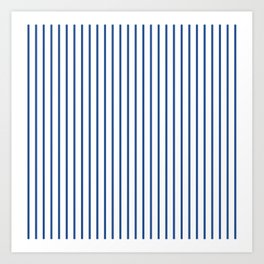 Delphinium Blue Pinstripe on White Art Print