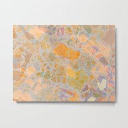 Orange Mosaic Metal Print