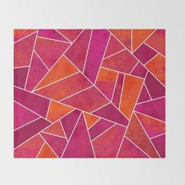 Hot Pink & Orange stone Throw Blanket