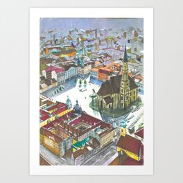 Unirii square Art Print