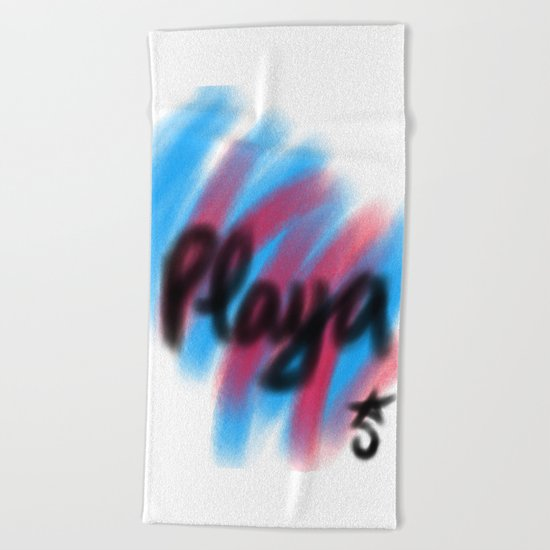Play Time a la Playa, Beach, Pink and Blue Beach Towel