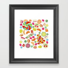 Rainbow candies Framed Art Print