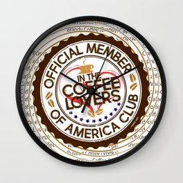 Coffee Lovers of America Club by Jeronimo Rubio 2016 Wall Clock
