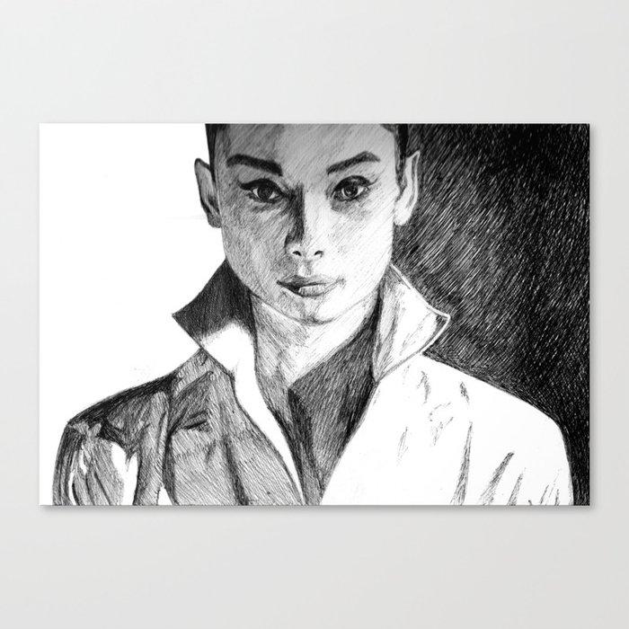Audrey Hepburn Canvas Print by demoose21 | Society6