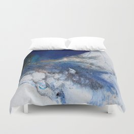Abstract blue marble Duvet Cover