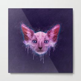 Pop Art Lykoi Cat Metal Print