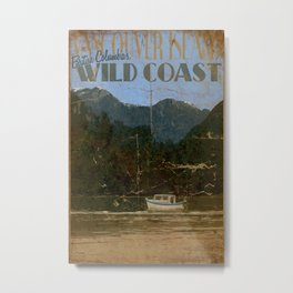 Vintage Poster - Vancouver Island, British Columbia's Wild Coast Metal Print