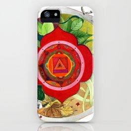 mandala y duendes iPhone Case