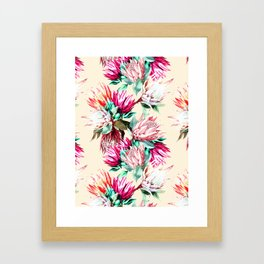 King proteas bloom II Framed Art Print