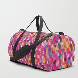 Pixel Quilt Pink Duffle Bag