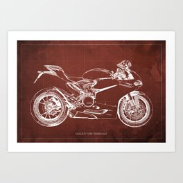 02- D Superbike 1299 Panigale 2015 red Art Print